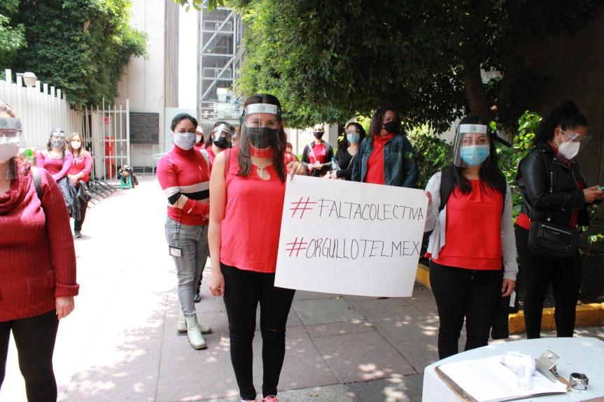 Telefonistas mantienen paro nacional en defensa de una cláusula dejubilación