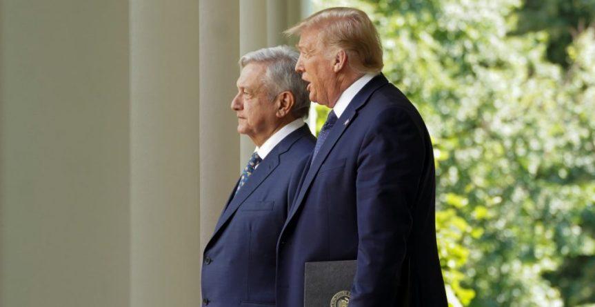 """Trump afirma que con López Obrador quieren """"hacer grandes"""" a EEUU yMéxico"""