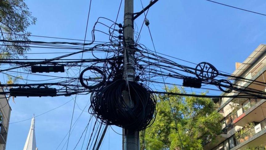 Empresas apoyan propuesta de ley para retirar cableado de calles enCDMX