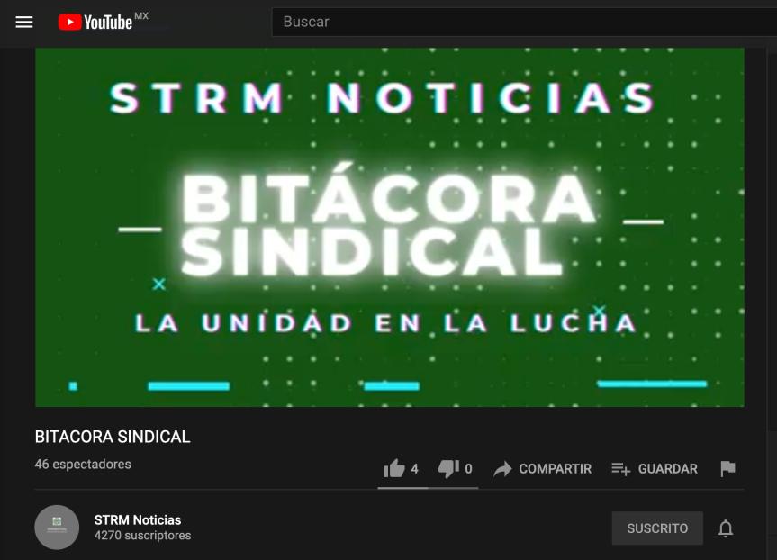 STRMnoticias. Bitácora Sindical/ Falta Colectiva/Mesa de Diálogo Intersecretarial.