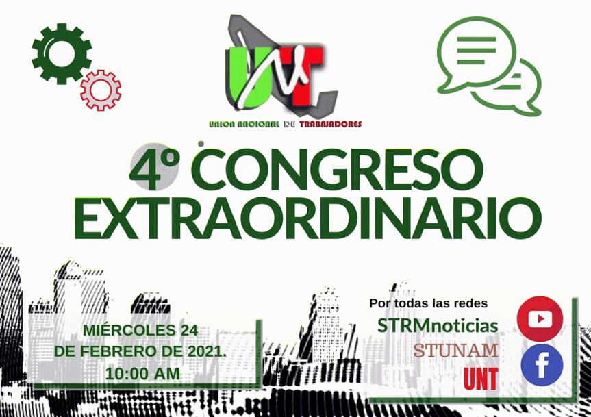 4º CONGRESO EXTRAORDINARIO DE LA UNT.24.02.2021