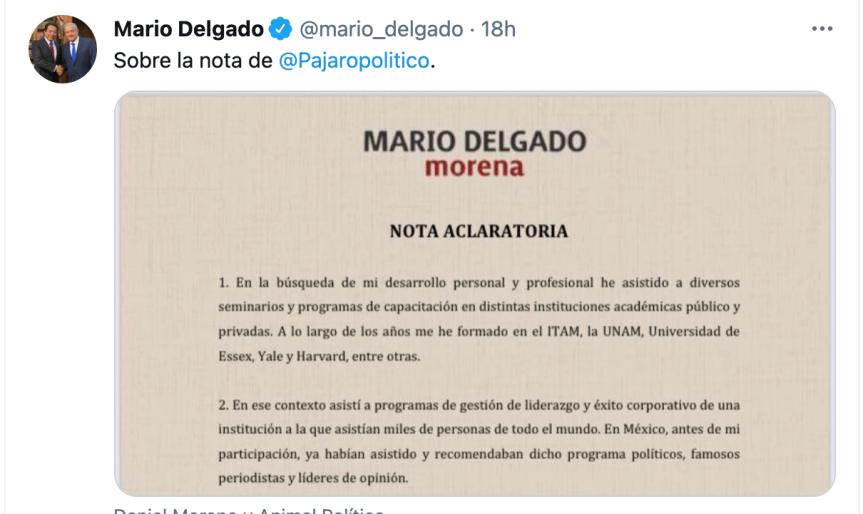 """""""Fui engañado"""": El presidente del partido oficialista de México queda envuelto en un escándalo por asistir a cursos de la sectaNXIVM"""